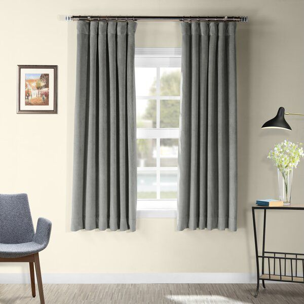 Albert Velvet Solid Blackout Rod Pocket Single Curtain Panel Panel Curtains Velvet Curtains Colorful Curtains