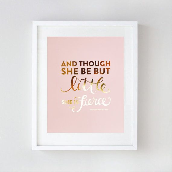 Inspirational Art Gold Foil Nursery Wall Art by LePapierStudio, $26.00