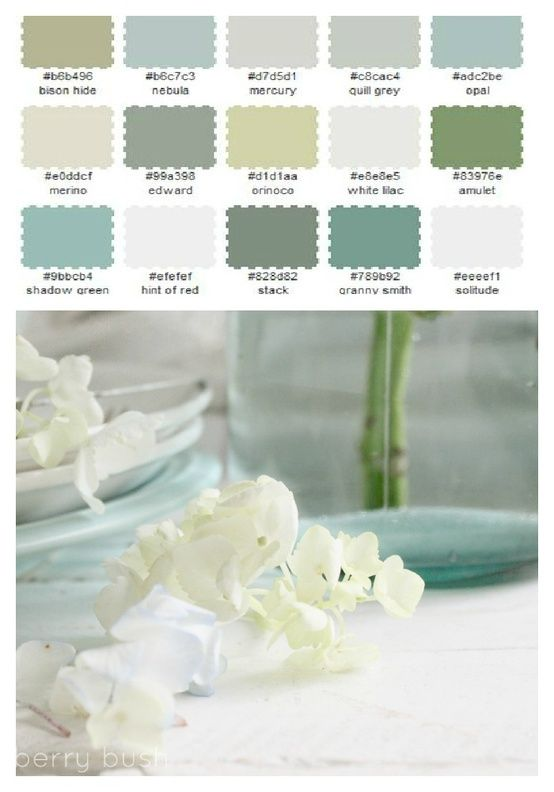 Color pallet for bathroom spa.