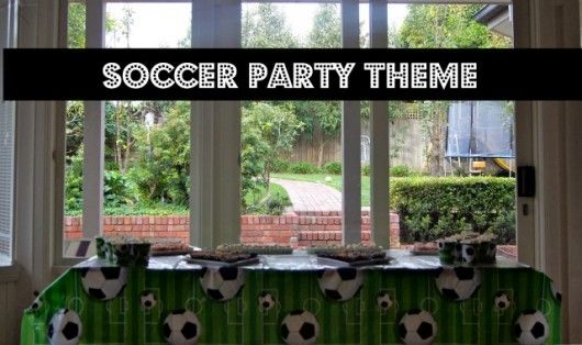 soccer party theme- some good ideas for easy snacks and gift boxes