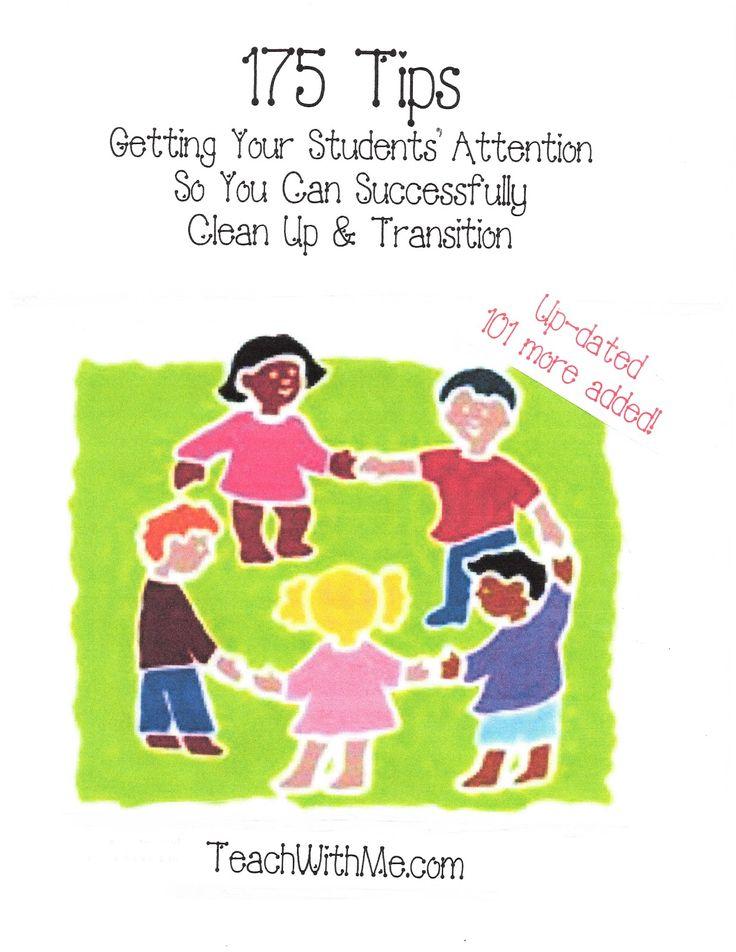 Classroom Freebies: 175 Transition Tips!