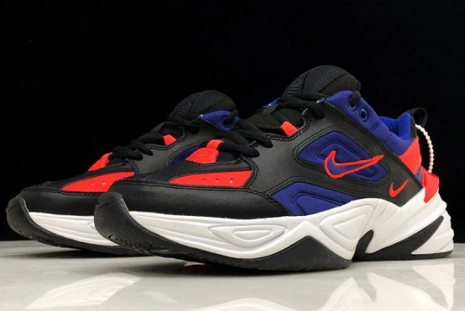 Brand New Nike M2k Tekno Black Racer Blue Red White Black Nikes