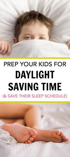 Prep Your Kids for Daylight Saving Time and Save Their Sleep Schedule With These Tips. How to handle daylight saving time without sending your house into a tizzy. How parents can help their kids with daylight savings time. via @https://www.pinterest.com/PragmaticParent/