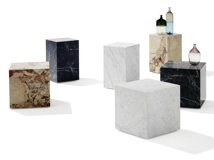 Natural Stone Stool Coffee Table Qbic By Draenert Design Patric Draenert Marble Furniture