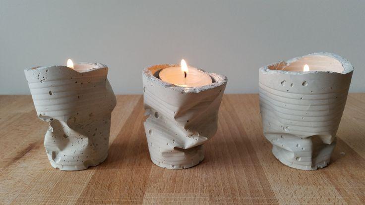 OFERTA! Pack de 3 portavelas de cemento http://www.theconcretejungledeco.com/listing/256395411/oferta-pack-de-3-portavelas-de-cemento