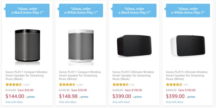 [Deal Alert] Get $50 off a Sonos Play:1 or $100 off a Play:5 with Alexa voice ordering  ||  Amazon has a special deal for those interested in hopping aboard the Sonos train, or looking to expand their collection, thanks to voice ordering through A... by Jordan Palmer in Deals, News http://www.androidpolice.com/2017/10/07/deal-alert-get-50-off-sonos-play1-100-off-play5-alexa-voice-ordering/?utm_campaign=crowdfire&utm_content=crowdfire&utm_medium=social&utm_source=pinterest