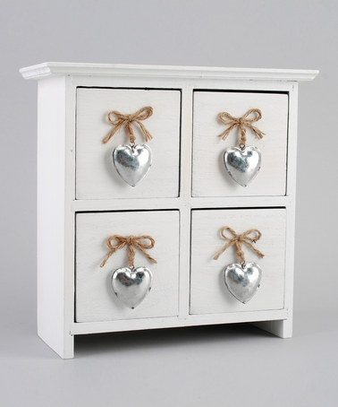 Take a look at this White Wood Four Drawer Cabinet by Container Group Buying on #zulily today!