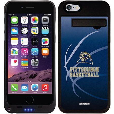 University of Pittsburgh Basketball Design on Apple iPhone 6 Battery Case by Coveroo