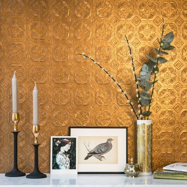Обои под покраску (58 фото в интерьере): выбираем лучшее http://happymodern.ru/oboi-pod-pokrasku-53-foto-v-interere-vybiraem-luchshee/ Покраска обоев под золото