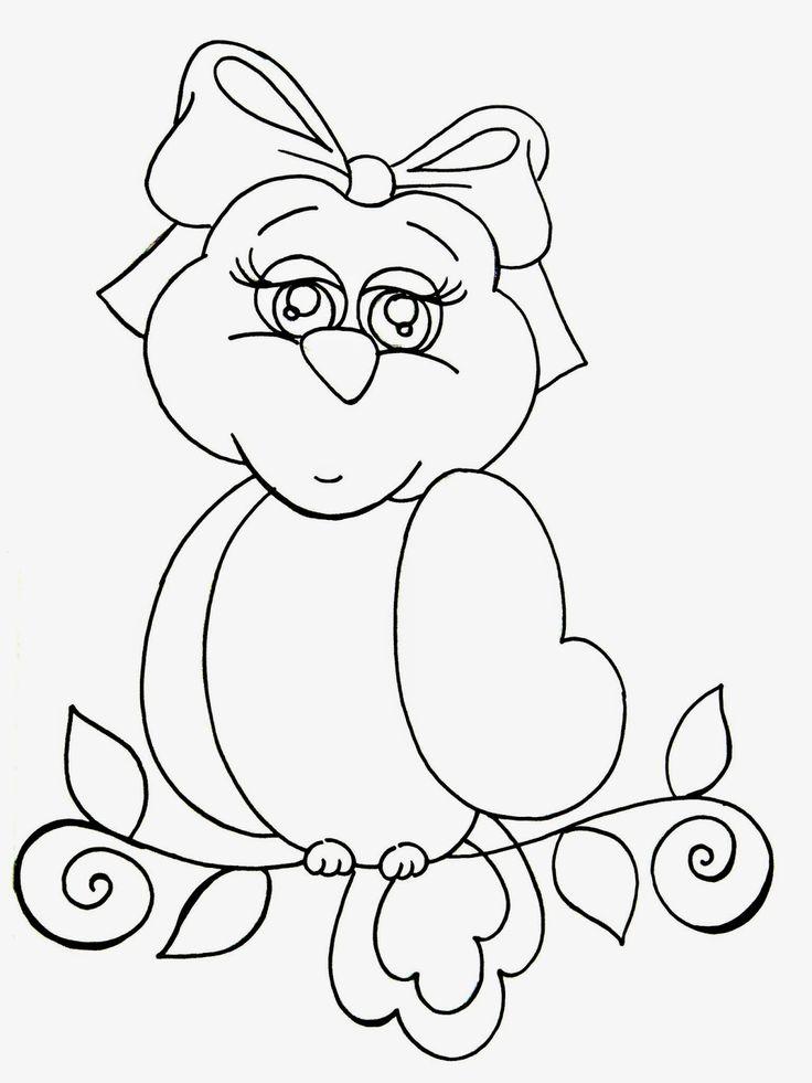 Oi pessoal, saindo só um pouquinho do clima de páscoa, pintei para vocês um projeto de corujinha, peguei este desenho fofo e adaptei ...