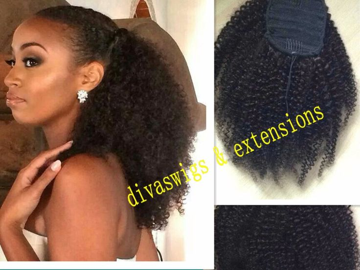 Cheap afro ponytail extension, Buy Quality afro drawstring directly from China ponytail afro Suppliers: 	African american afro ponytail Clip in  kinky curly virgin brazilian hair drawstring ponytails hair extensions 160