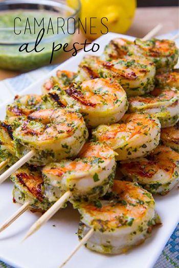 El Rincón de Lynch: Gastronomía Pura.: Camarones al Pesto.