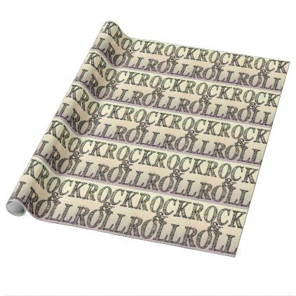 Rock and roll sunset wrapping paper - craft supplies diy custom design supply special