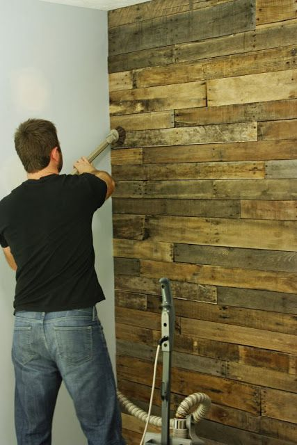 Repurposed wood plank walls...great for bathroom, behind headboard in bedroom, room splitting walls or living room