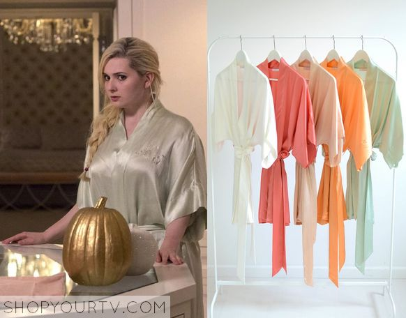 Scream Queens: Season 1 Episode 6 Chanel #5's Mint Robe