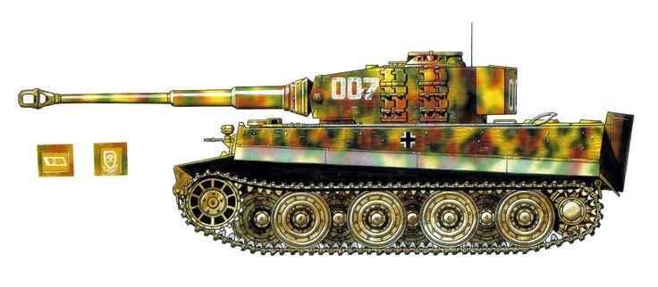Tiger I «numero tactico 007» del SS-Hauptsturmführer Michael Wittmann, SS-s.Pz.Abt. 101, St Aignan de Cramesnil, Francia, 8 de agosto de 1944. http://www.elgrancapitan.org/foro/viewtopic.php?f=12&p=911003#p910899