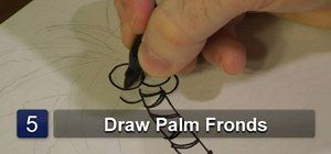 How to Draw palm tree « Drawing & Illustration
