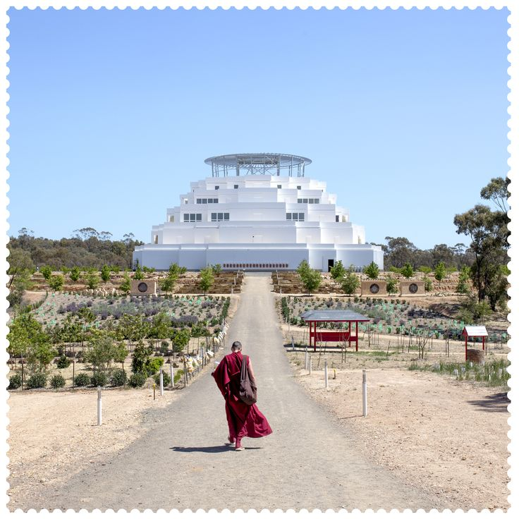 Walking towards the Great Stupa of Universal Compassion #bendigo #bendigoattractions