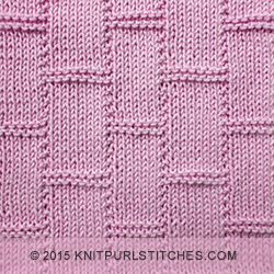 Textured Tiles  |  Knit and purl stitches