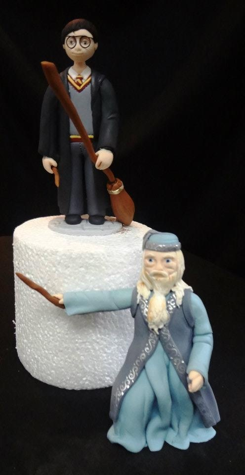 harry potter cake topper harry potter and dumbledore wedding cake toppers www 4731