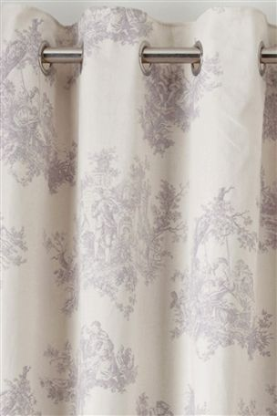 Buy Toile Print Mauve Eyelet Curtains from the Next UK online shop