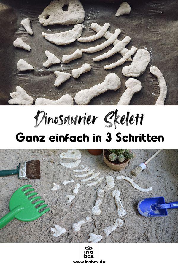 DIY und Printable: Dino-Knochen aus Salzteig – in a box