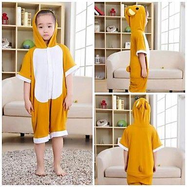 Kids Yellow Rilakkuma Modal Kigurumi Pajamas For Summer