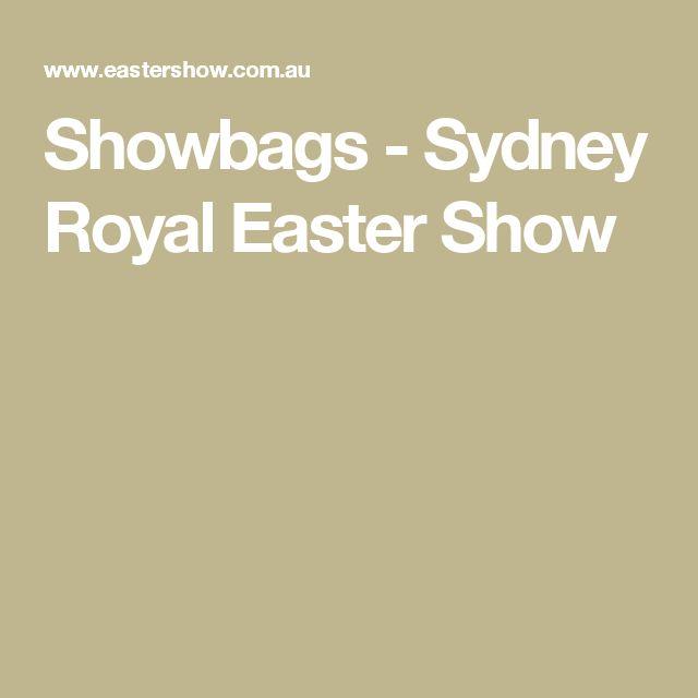 Showbags - Sydney Royal Easter Show