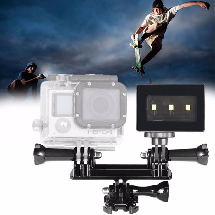 Waterproof Underwater LED Light Dual Mount Holder Kit For Gopro Hero 4 3 Plus 3 Xiaomi Yi SJCAM  Worldwide delivery. Original best quality product for 70% of it's real price. Buying this product is extra profitable, because we have good production source. 1 day products dispatch from...