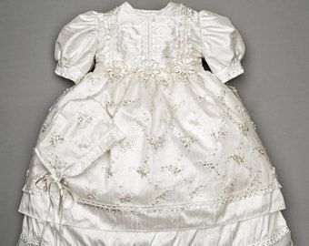 Ropon para bautizo de niña bordado a mano, vestido especial para bautizo o bautismos