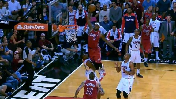 LeBron James Posterizes Paul Millsap (VIDEO)