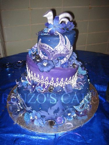 Sweet 16 Masquerade Cake by shatteredgrasp, via Flickr