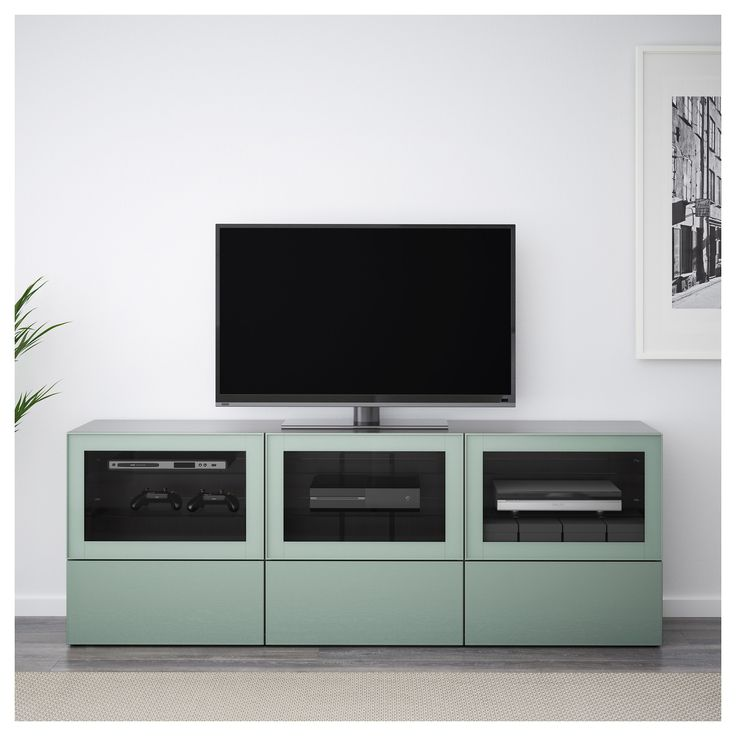 best tv unit with doors and drawers blackbrown selsviken graygreen clear glass