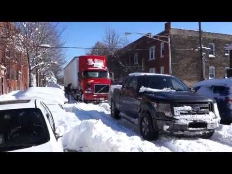 Hell, yeah! There are 2 Fords parked in our driveway! Ford F150 pulls semi out of snow- Chicago blizzard 2015