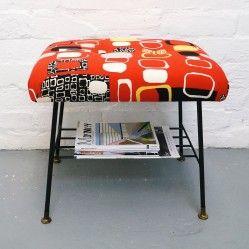 1950s' stool with magazine shelf