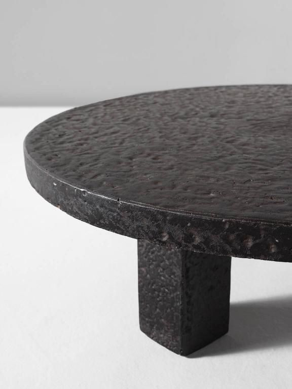 Round Stone Iron Look Cocktail Table Stone Coffee Table Cocktail Tables Coffee Table
