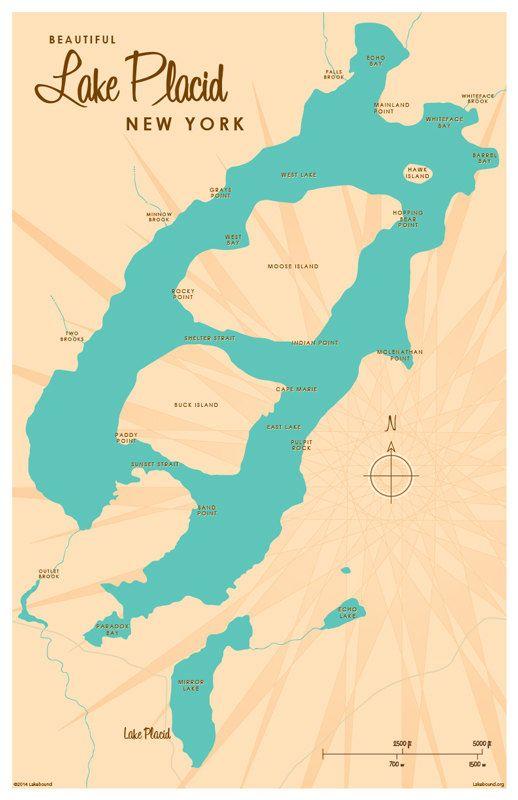 Lake Placid, NY Map Print