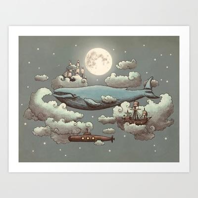Ocean Meets Sky Art Print by Terry Fan - $18.00: Terry O'Neil, Ocean Meeting, Frames Art Prints, Terry Fans, Products Avail, Society6 Com, Buy Ocean, High Quality, Meeting Sky