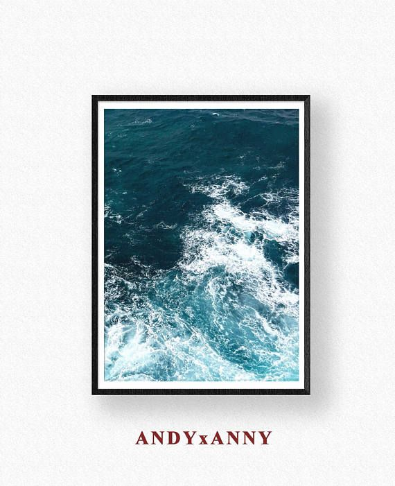 Ocean print ocean wall art ocean printable ocean art ocean waves art