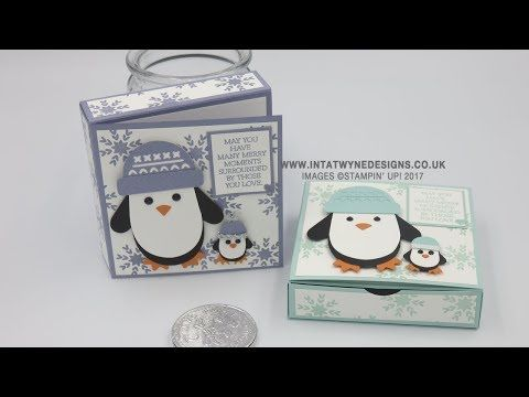 Crafty Christmas Countdown #21 - Smitten Penguin Gift Box and Card - YouTube