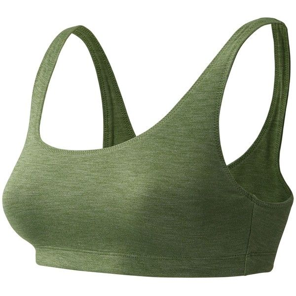 New Balance 71044 Women's J.Crew Scoop Bra ($46) ❤ liked on Polyvore featuring activewear, sports bras, green, green sports bra, new balance sports bra, new balance activewear and new balance