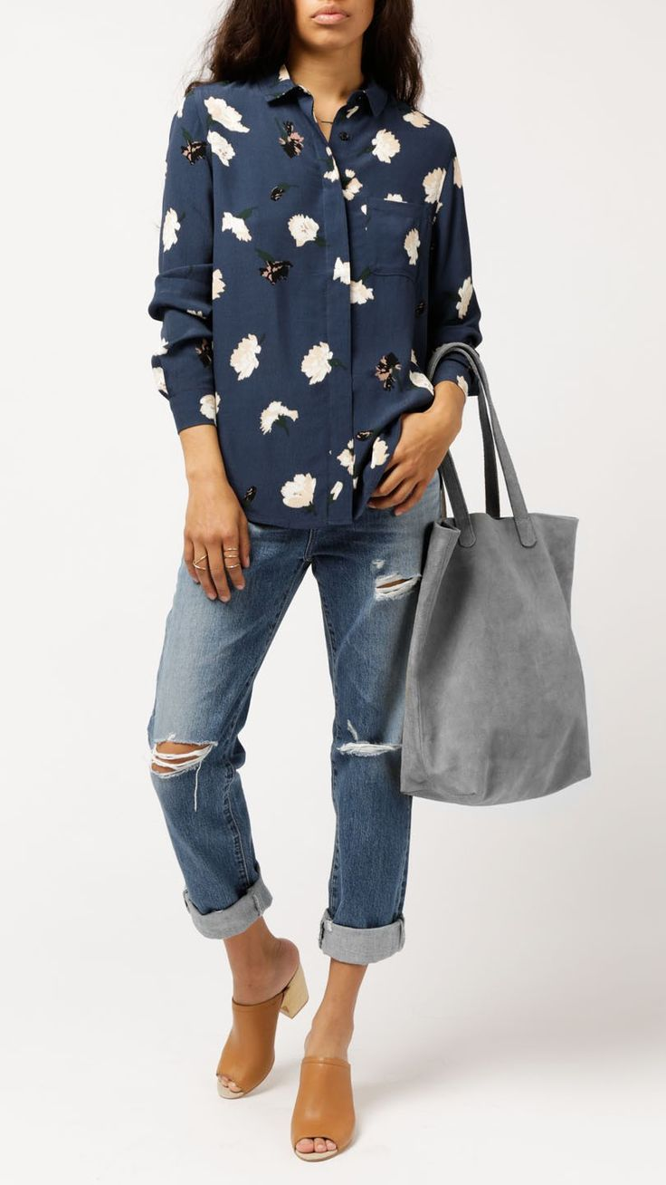 Ganni - Carnation Flower L/S Shirt