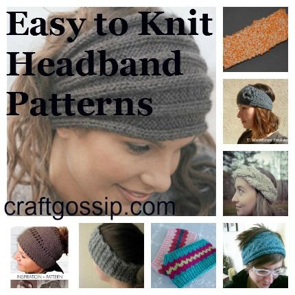 Free Headband Knitting Patterns - Knitting