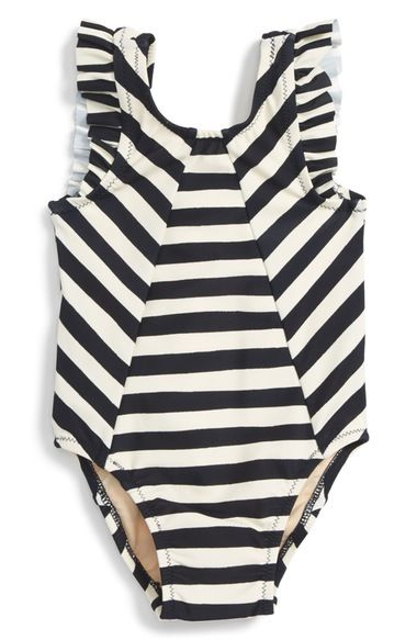 Tea Collection Shell Beach One-Piece Swimsuit (Baby Girls) available at #Nordstrom