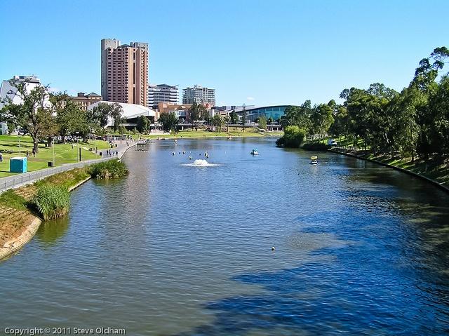 River Torrens, Adelaide, South Australia, via Flickr.