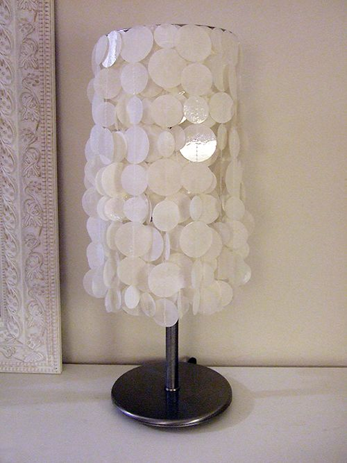 23 best capiz shell images on pinterest shells chandeliers and fauz capiz shell lamp aloadofball Images