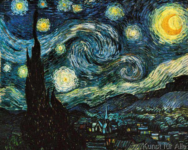 Vincent van Gogh - Die Sternennacht