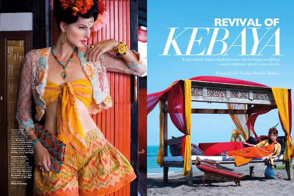 Revival of Kebaya for Harper's Bazaar photograph by Nicoline Patricia Malina