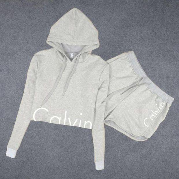 "Fashion ""Calvin Klein"" Print Shirt Top Hoodie Sweatshirt Shorts"