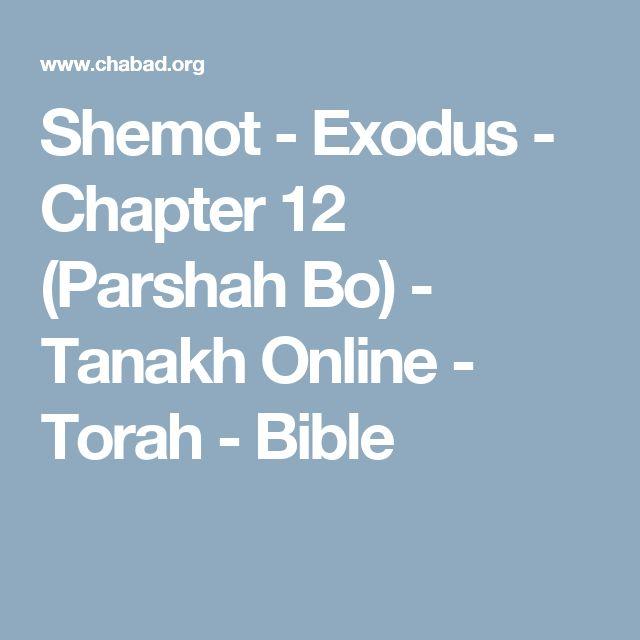 Shemot - Exodus - Chapter 12 (Parshah Bo) - Tanakh Online - Torah - Bible